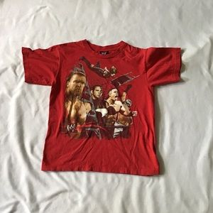 Pre Owned WWE Hybrid 2007 Shirt Boys Size M Red